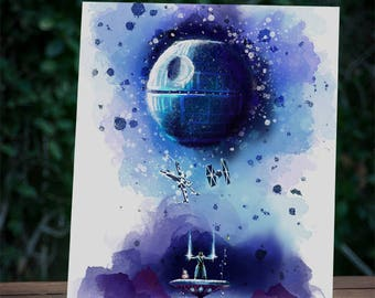Star Wars Art, Sith Poster, Pretty fly for a Jedi, BB8, Tie Fighter, Xwing, Death Star, Rebel Alliance, Empire, Imperial, Death Star, Rey