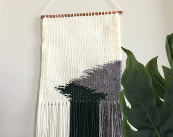 Neutral Woven Wall Hanging / Weaving Wall Decor / Boho Home Decor / Nursery Wall Art / Cream Wall Weaving