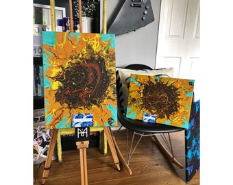 "Molky Ellan Art ""SUNFLOWER DUO"" acrylic painting"
