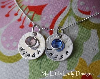 Two Disc Sweet Keepsake Necklace