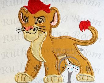 Lion Guard Kion  Applique Embroidery Design This is NOT A PATCH