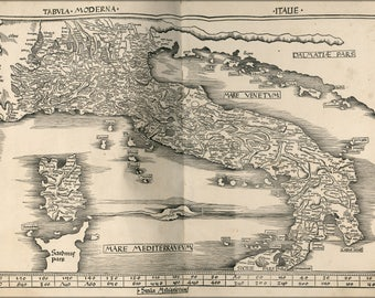 Poster, Many Sizes Available; Map Of Italy 1513 P2