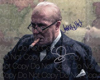 Darkest Hour signed Gary Oldman Joe Wright 8X10 photo picture poster autograph RP