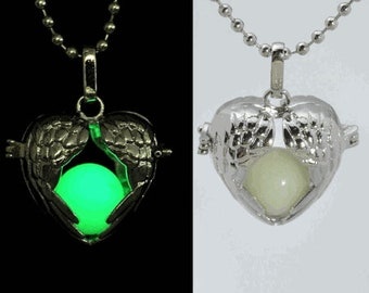 Glow In The Dark Heart Shaped Necklace