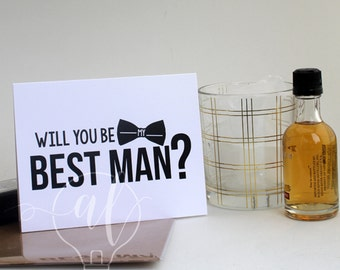 Will you be my best man? Best man card - be my best man - best man invitation - best man gift - best man proposal - wedding cards