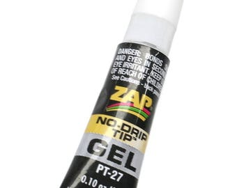 Zap Gel Glue ~ Strong Non Drip Adhesive For Jewellery Making, Kumihimo, Macrame & Braiding Etc~ Jewellery Making Essentials