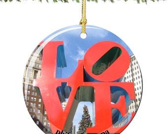 LOVE Porcelain Christmas Ornament Decoration