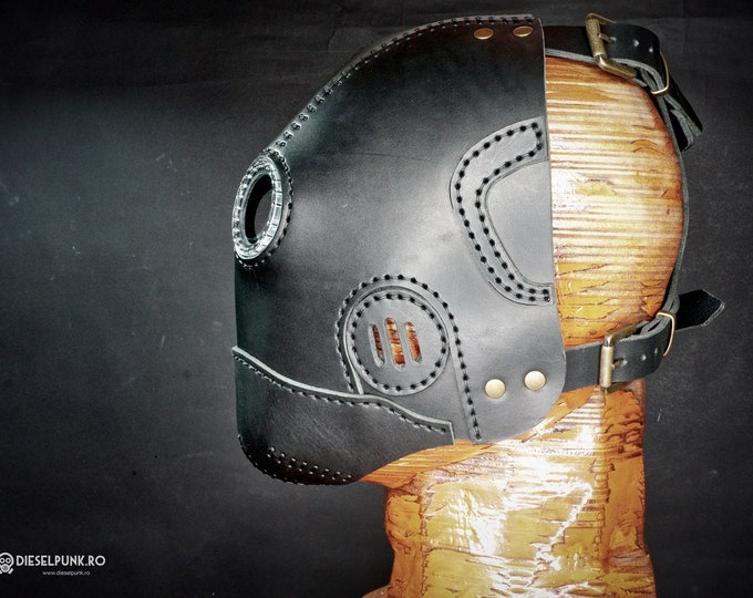 Steampunk Mask - Leather Mask - Cyberpunk Mask - Post Apocalyptic Mask - LARP Mask - Cosplay Mask