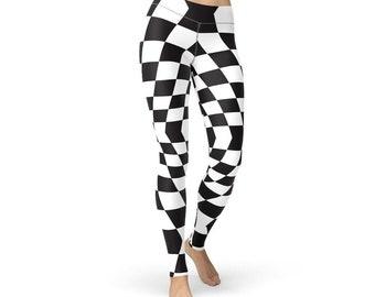 Checkered Pattern Leggings