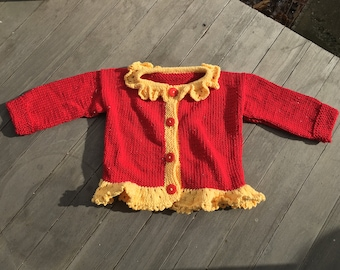 Fetching Frilled Sweater for Holiday Parties Galore!