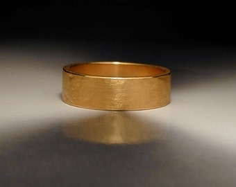 Pure gold wedding band