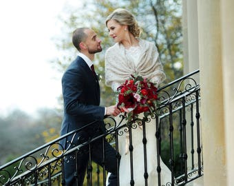 Bridal Shawl, Crochet Shawl,Bridal Bolero, Cape, Bridal Wrap, Bolero, Shrug, Wrap, Wedding cape, Bridal Cape