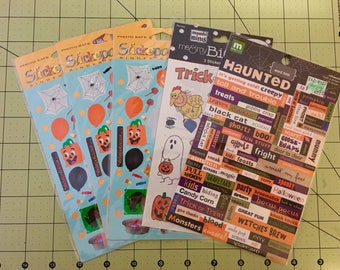 Halloween Stickers -- Set of 5 packages