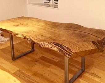 Custom live edge slab wood dining table/desk/ each