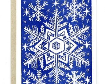 Let it Snow - set of 5 Letterpress Printed Holiday Christmas Cards