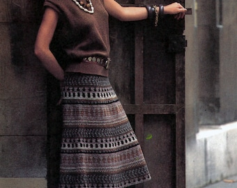 Pattern Only: Vintage Peruvian Skirt Advanced Crochet Pattern 1985 - PDF Download