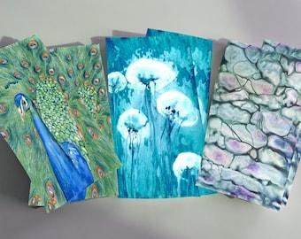 Set of 6 Cotton Tea Towels -  Choose ANY Artwork - Flour Sack Towels - Fine Art Kitchen Home Decor