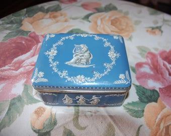 Blue metal box