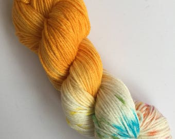 Golden Mermaid Kisses Hand Dyed Yarn 100g DYED TO ORDER