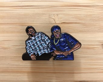 Friday Enamel Pin, 90s Pins, Chris Tucker Smokey, Hip Hop Pin, Bye Felicia, Rap Music Pins, Pop Culture Button Pin, Cute Pin Badge