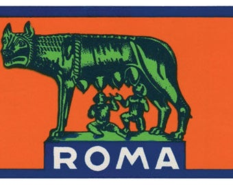 Vintage Style Italy Rome Roma    Travel Decal sticker