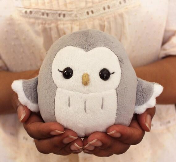 PDF sewing pattern Owl stuffed animal handheld size cute