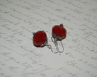 Red Crystal Antique Earrings