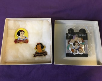 Snow White and the Seven Dwarfs 50th Anniversary Pins and Disney Designs Pin