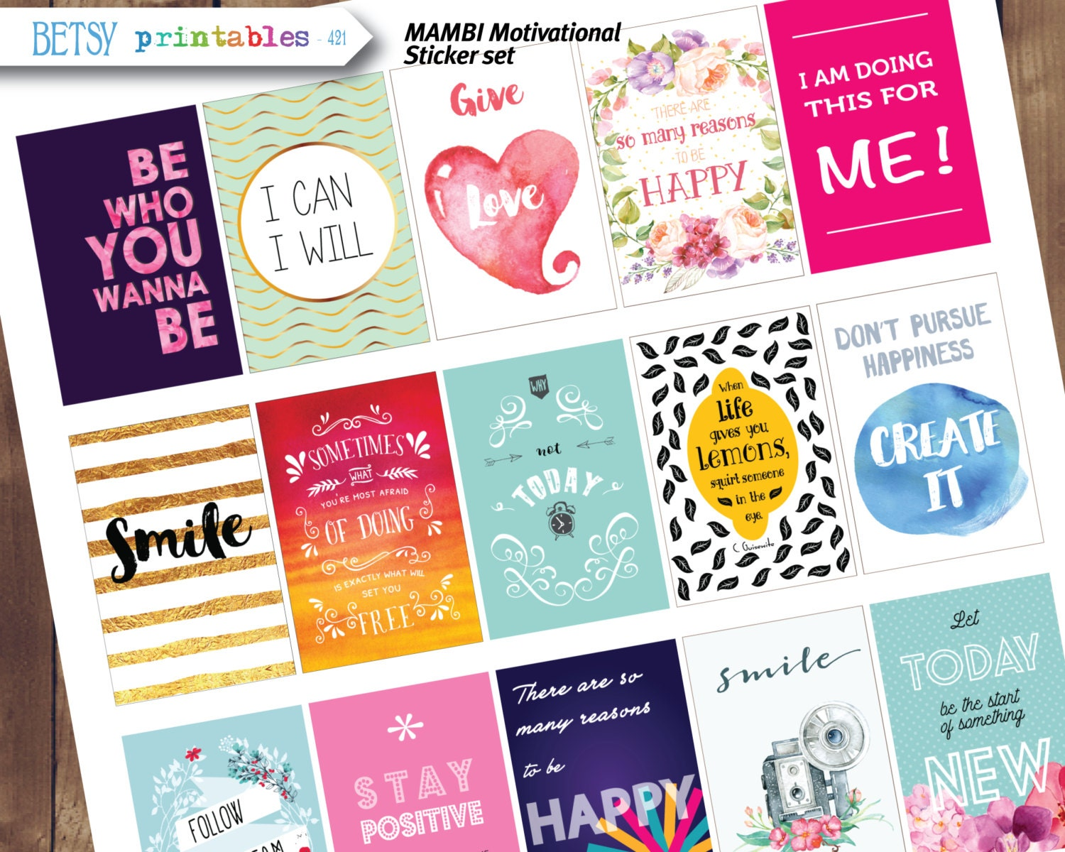 Mambi Pocket Pages Clear Stickers-Birthday