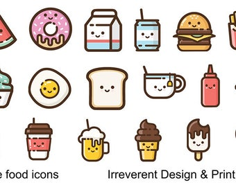 Cute Food Stickers - Perfect for planners, bujo, kids fun and much more