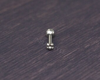 SALE - Tragus Earring - 316L Surgical steel cartilage jewelry, forward helix stud earring