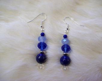 Lapis Crystal Earrings