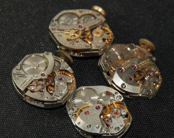 Vintage Watch Movements Parts Steampunk Altered Art Assemblage RT 63
