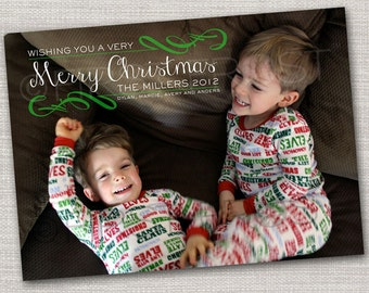 Printable DIY Christmas Photo Card - Custom Holiday Card