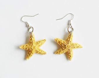 Adorably Cute & Tiny Starfish Earrings - Starfish Earring, Starfish Jewelry, Nautical Earring, Christmas Gift Ideas, Mermaid Accessories