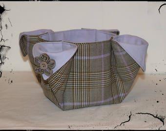 """Grey purple"" Scottish basket"