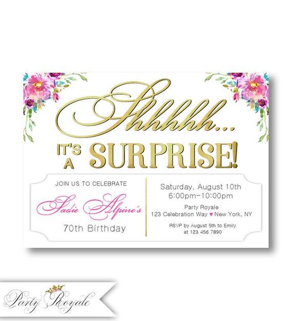 Birthday invitations women 70th birthday surprise party stopboris Images