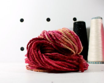 fire starter  ... handspun yarn set, weaving creative yarn, hand spun, hand dyed yarn, handspun art yarn