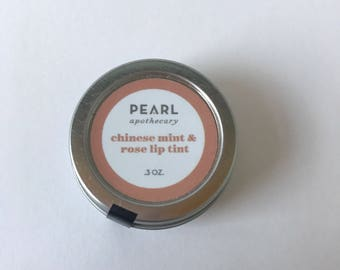 Chinese Mint + Rose Lip Tint by Pearl Apothecary