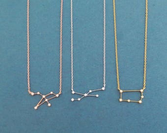 Cubic, Zodiac 12 signs, Gold, Silver, Rose gold, Necklace, Astrological sign, Birthday, Lovers, Best friends, Sister, Gift, Jewelry