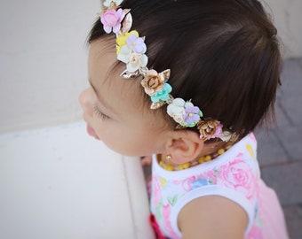 Flower crown, dainty flower, dainty crown, spring, flower girl