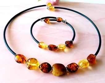 Baltic Amber Necklace and Bracelet Genuine Baltic Amber