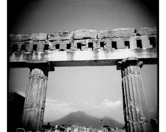 """Limited Edition Mount Vesuvius Italy Architecture 24x24"""" Photograph Matted and Framed"""