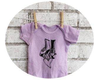 Roller Skate Baby Onepiece, Baby Bodysuit, Cotton, Purple, Lavender, Roller Derby, Short Sleeved Baby One Piece, Baby Shower Gift, Jam Skate