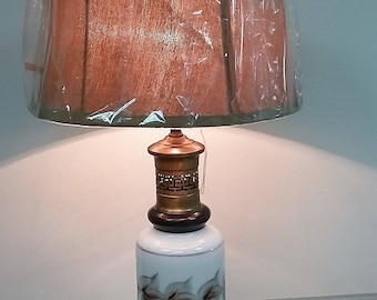 Early 20 century Table Lamp, Hand Painted
