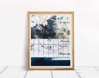 Art Print WAITING LINE collage artwork