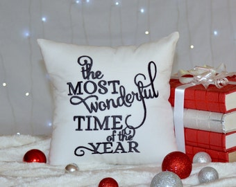 30% OFF SALE the Most Wonderful time Of the Year Christmas Pillow, Decoration Pillow,Gift, Pillow From Available in all sizes and colors