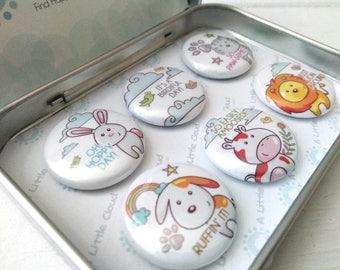 Animal Puns Magnet Gift Set, animal lover, cute animals