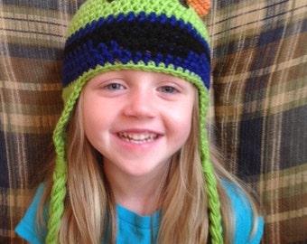 "Umizoomi inspired ""Bot"" crochet hat,Crochet hat,warm winter hat,character hat,baby gift,birthday gift,shower gift"