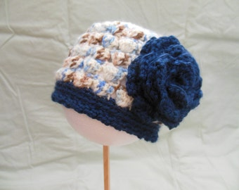 Adorable Baby Crochet Hat for that Special Little Someone, Size 0-3 mths.